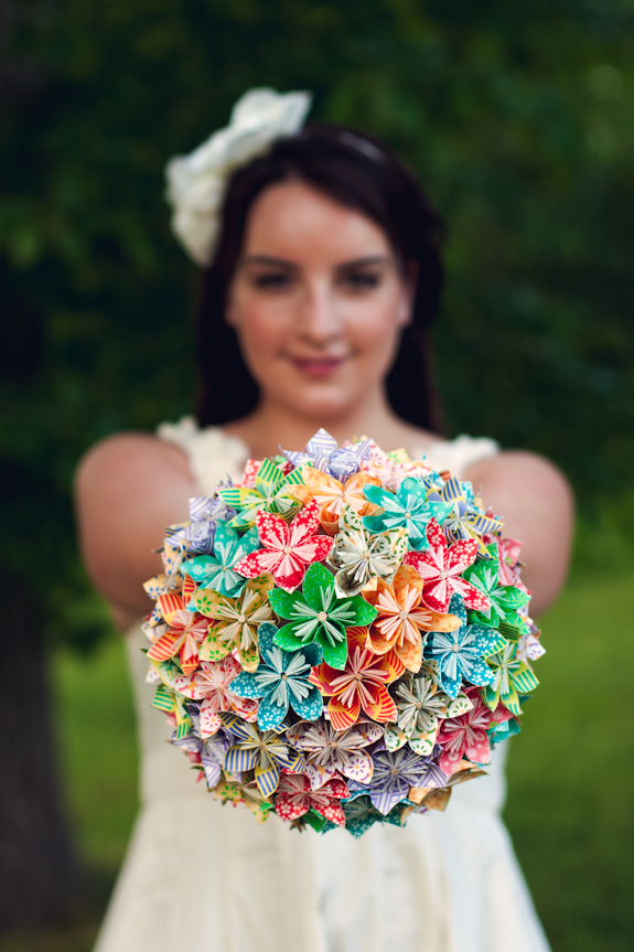DIY Origami Paper Flower Bouquet From Lindsey