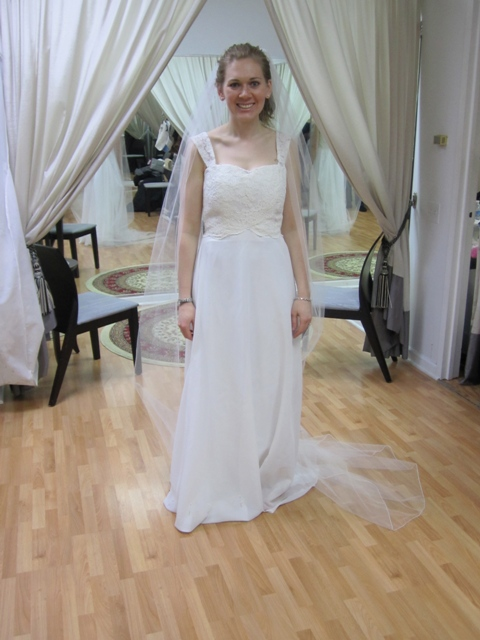 Wedding Dress Re-imagined - Brides Dress from her Moms