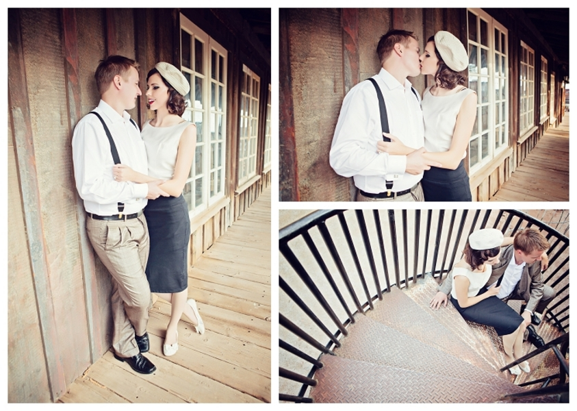 Capitol Inspiration Bonnie Clyde Inspired Engagement Shoot
