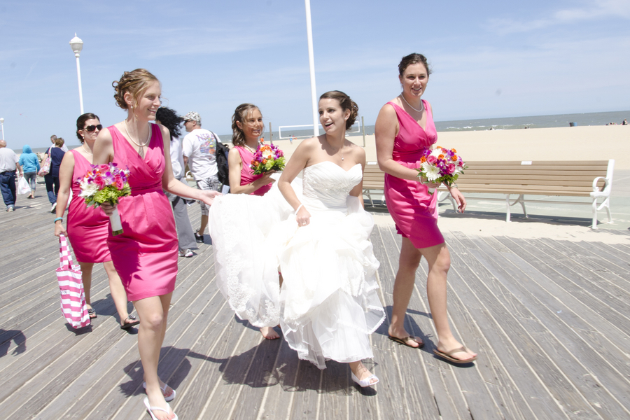 Ocean City Beach Themed Wedding Click