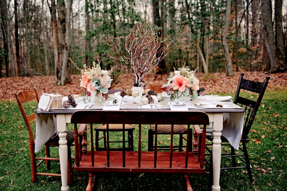 rustic winter wedding DIY wedding details decorations centerpieces tablescape