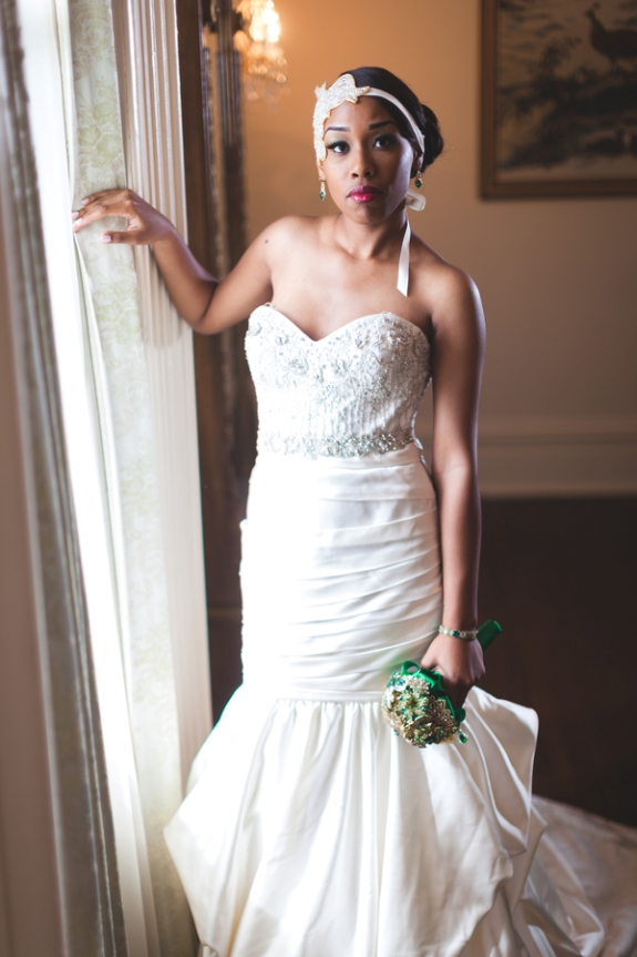 green gold wedding great gatsby themed bride