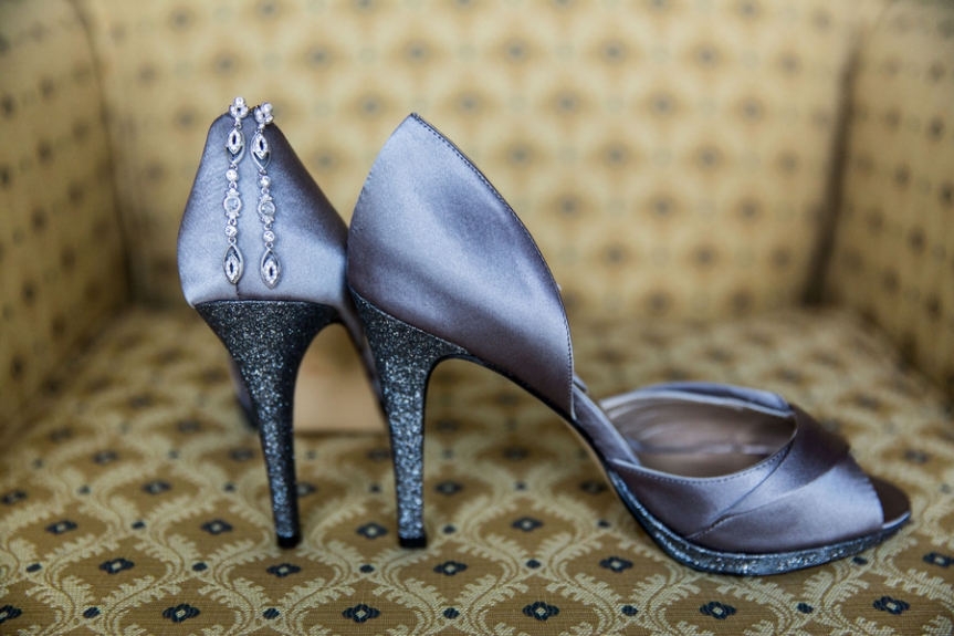 dark grey winter wedding shoes bride sparkly