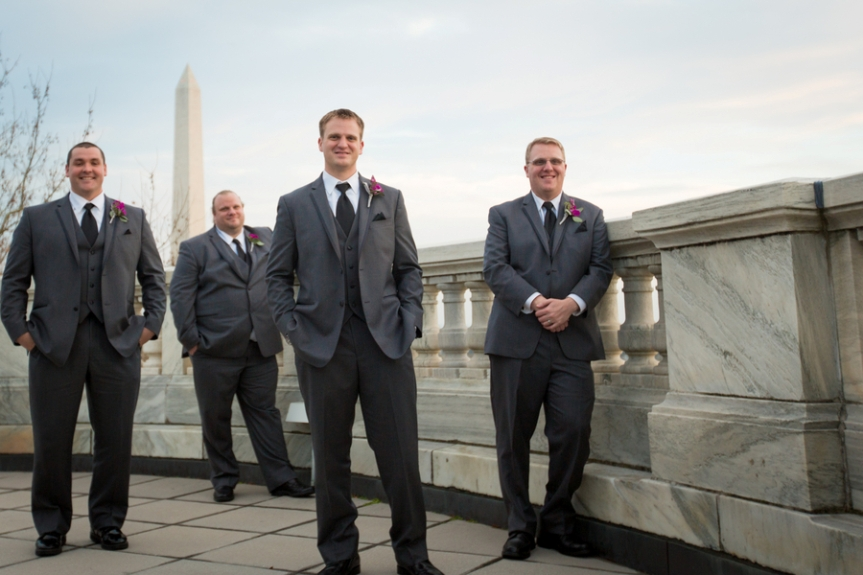groomsmen grey suits washington dc portrait