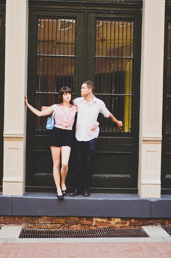 richmond virginia offbeat engagement pictures rooftop hipster