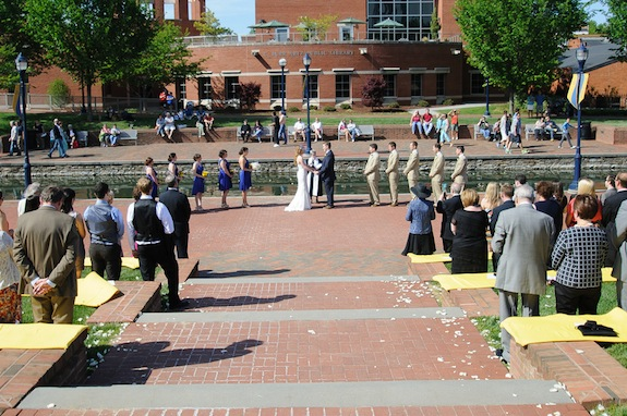 outdoor frederick maryland wedding ceremony