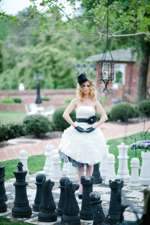 offbeat black white bride bridal pictures