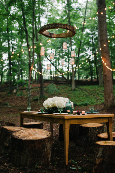 DIY wood chandelier tutorial outdoors pictures