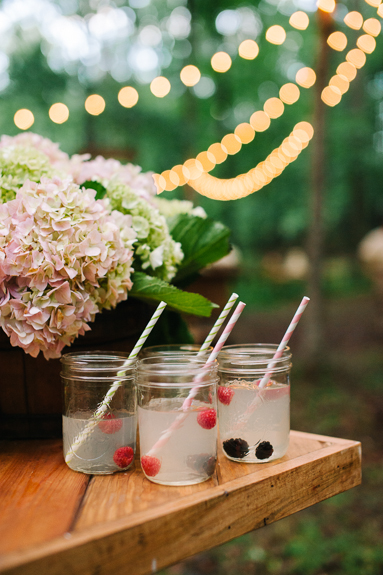 outdoor woodend woodsy wedding cocktails