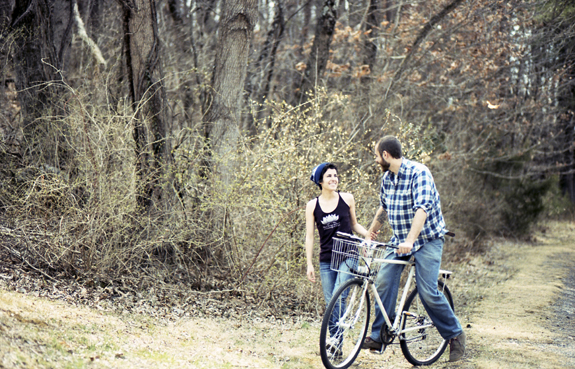 offbeat casual backyard virginia engagement session