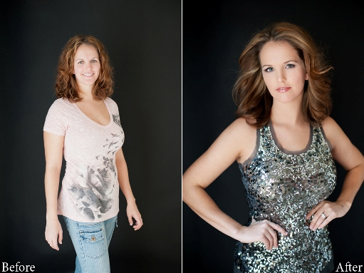 glamour photo shoot makeover giveaway