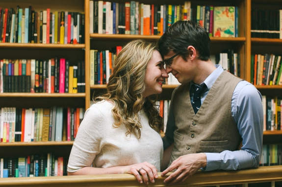 georgetown DC unique bookstore engagement pictures