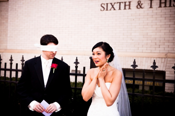 offbeat DC weddings first look