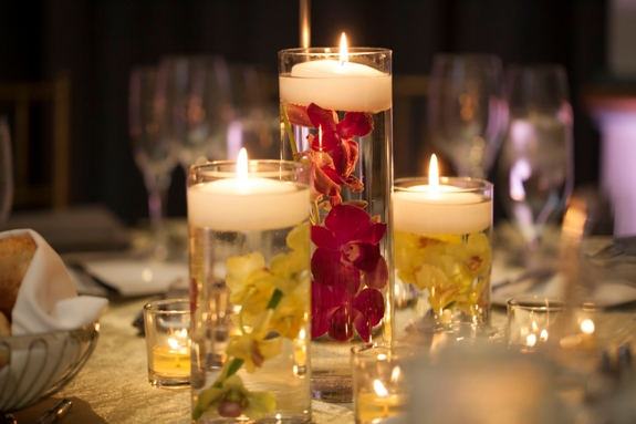 modern floating candles centerpieces
