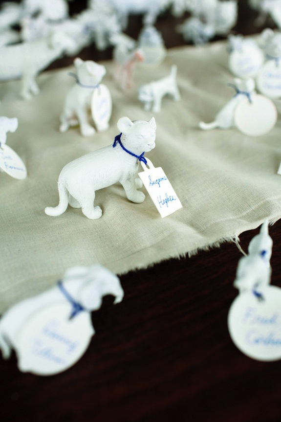alternative creative escort cards animals