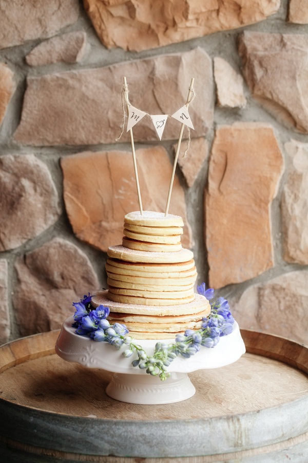 brunch wedding pancake cake