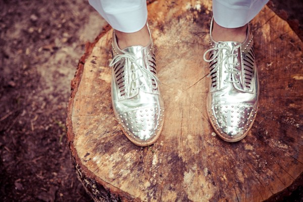 silver patent leather shoes