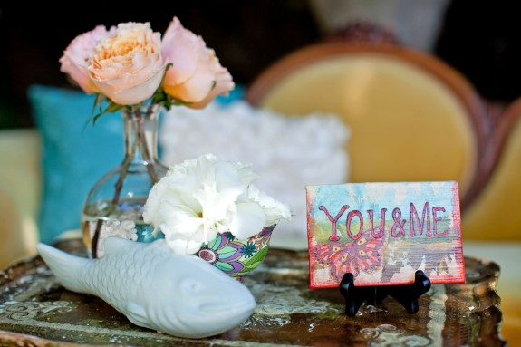 music festival themed wedding details