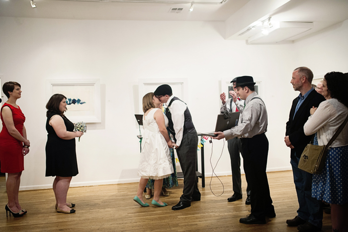 offbeat dc wedding ceremony hillyer art space