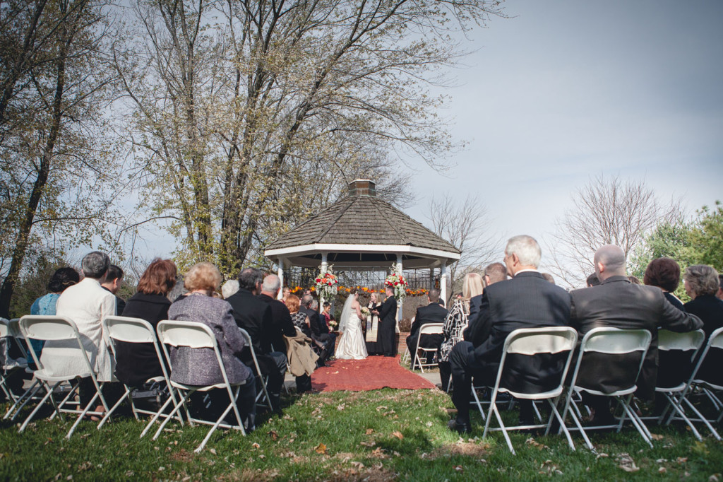 outdoor fall maryland wedding ceremony