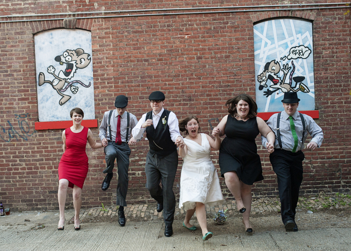 offbeat nontraditional dc wedding party portraits