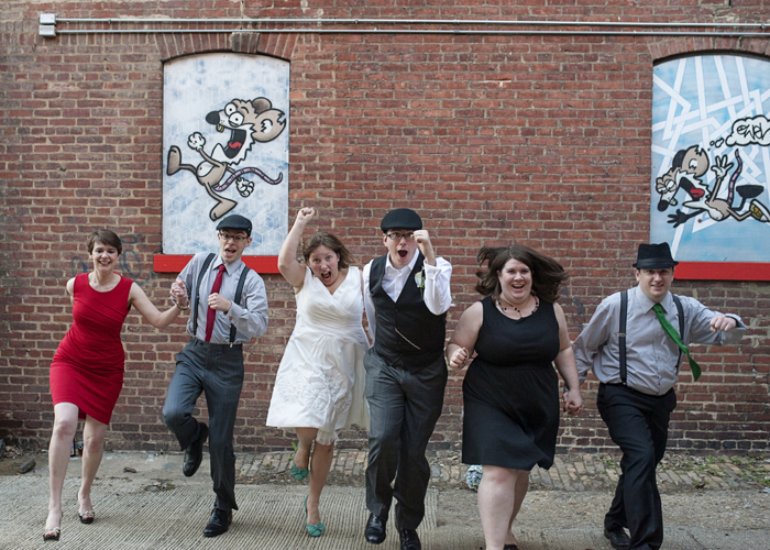 offbeat geeky DC wedding pi day theme hillyer art space