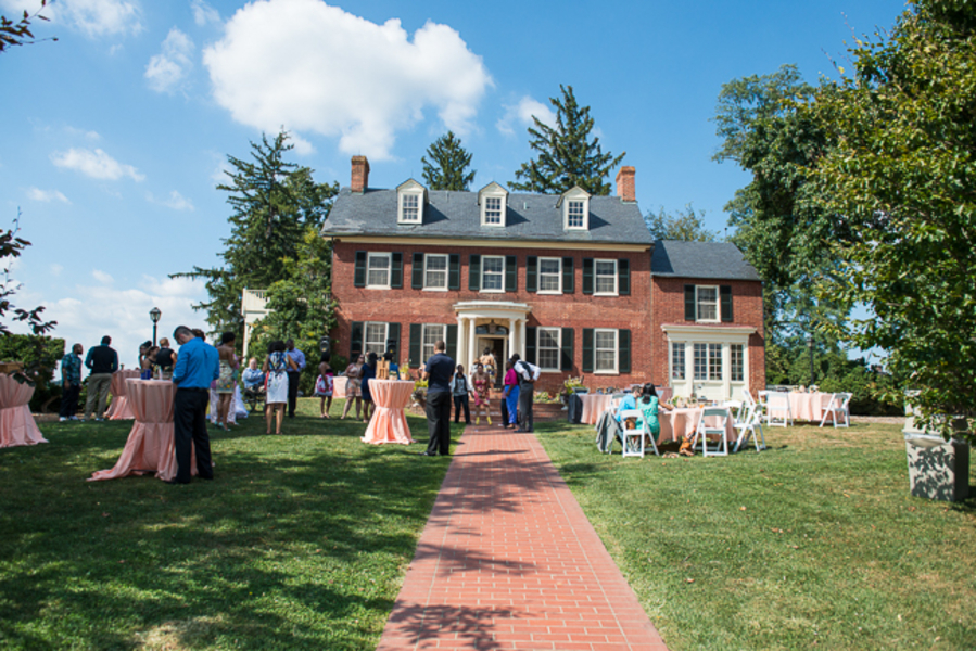 outdoor maryland wedding venue