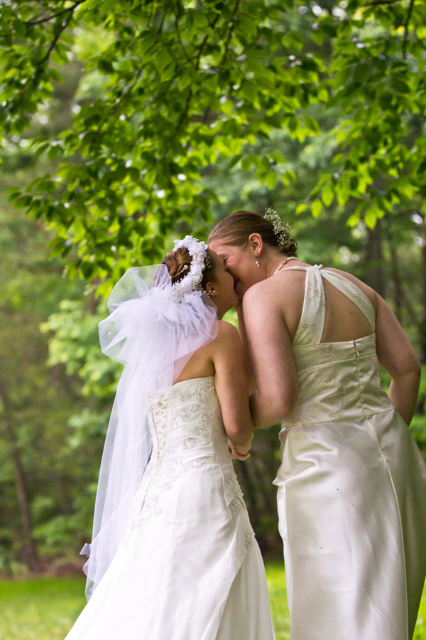 same sex LGBT backyard Virginia wedding