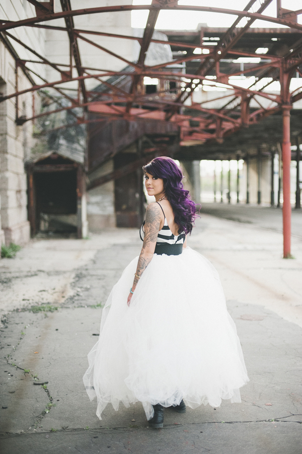 punk rock tattooed bride pictures