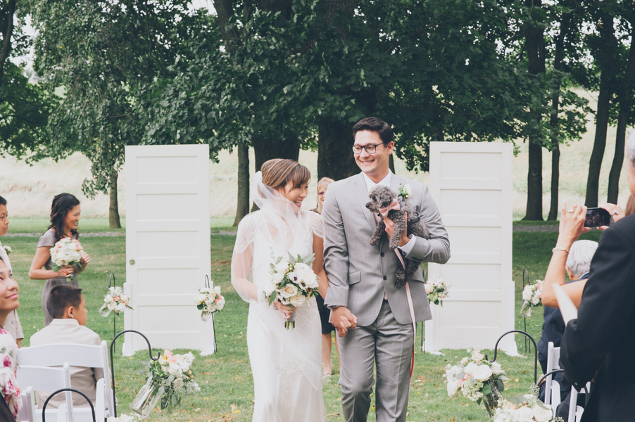 personalized outdoor virginia wedding ceremony