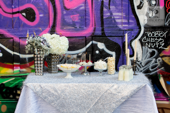 graffiti warehouse baltimore industrial urban punkrock wedding design