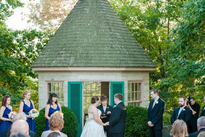 fall outdoor virginia wedding ceremony