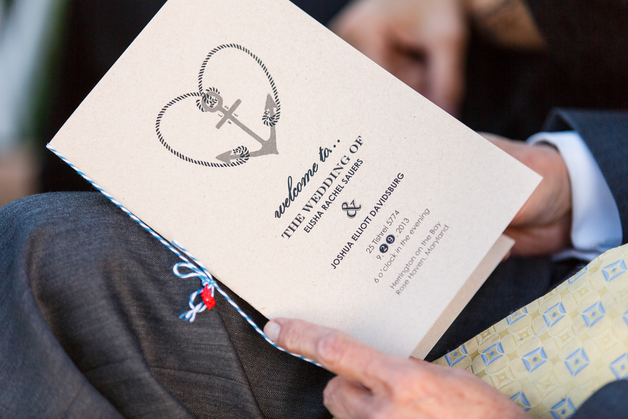 alternative creative nautical wedding programs