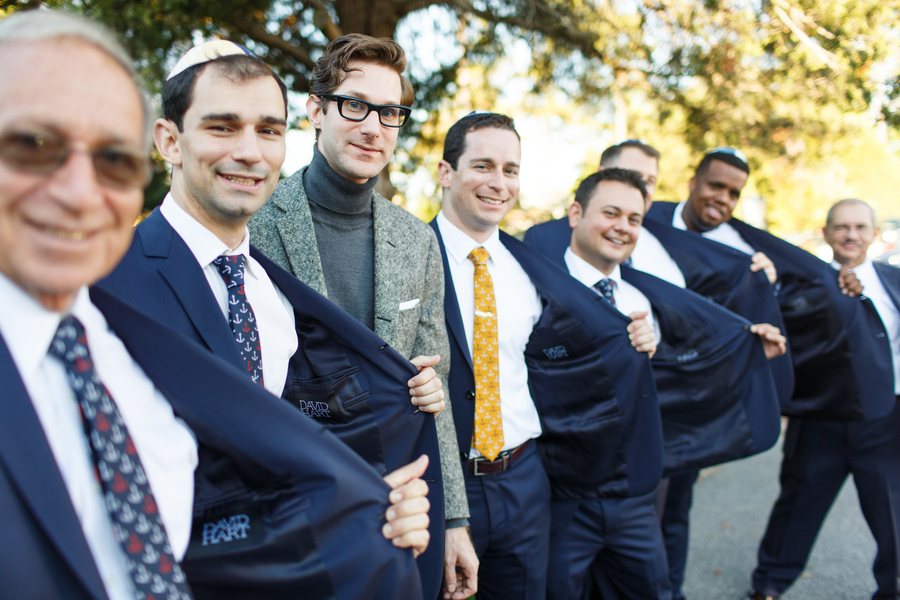custom made blue groomsmen suits david hart