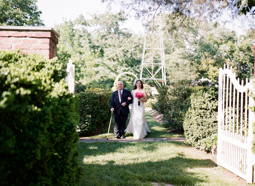 outdoor alexandria virginia wedding ceremony