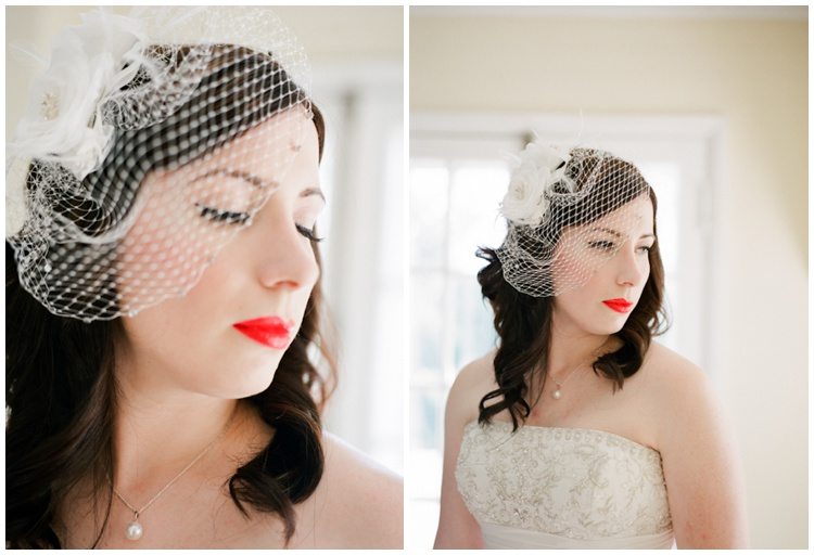 simple classic vintage wedding hair makeup