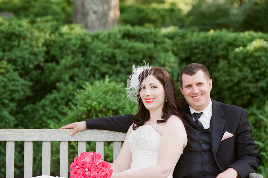 simple classic hot pink black virginia wedding