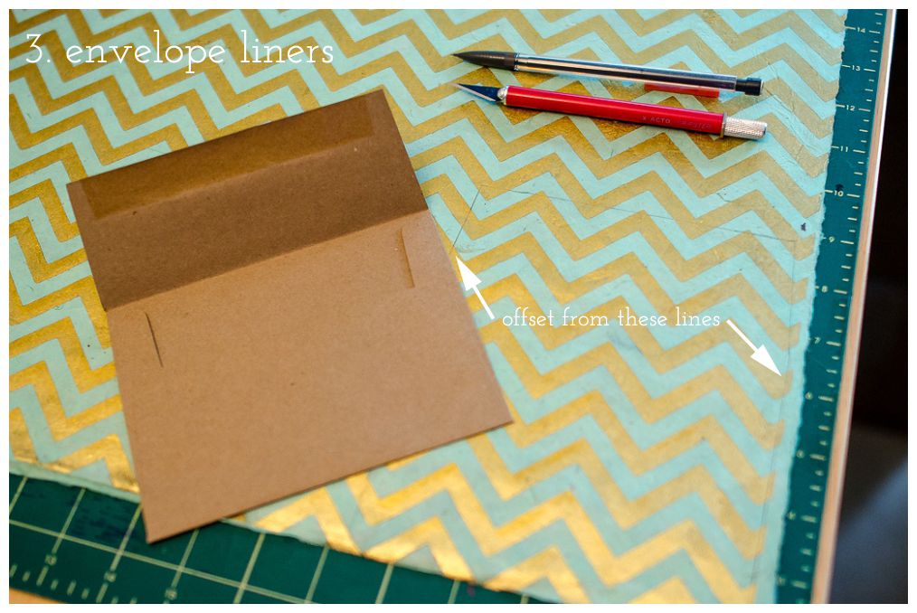 DIY envelope liner tutorial