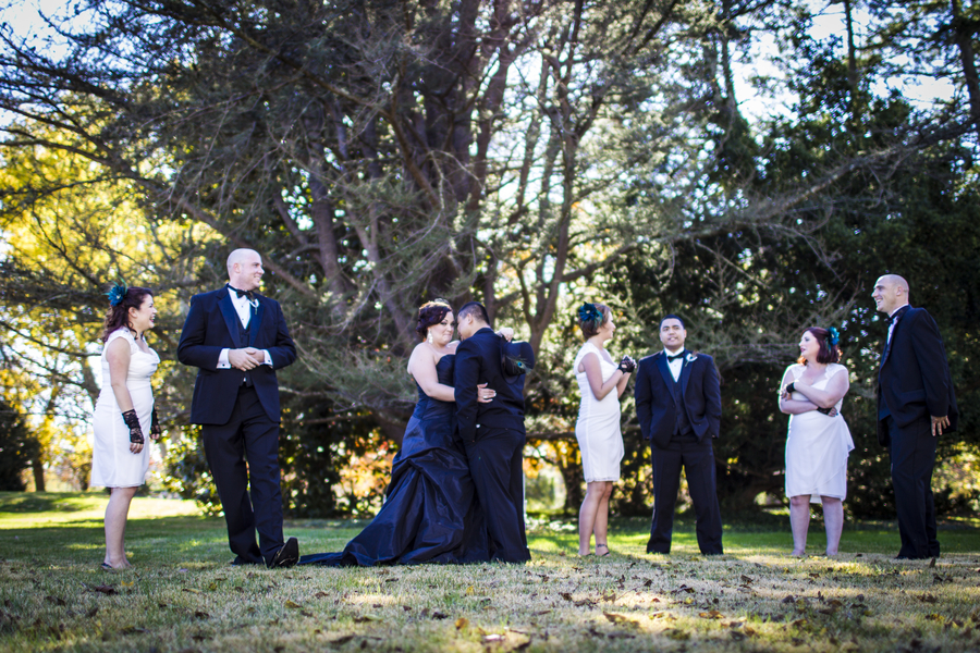 offbeat virginia wedding black wedding dress