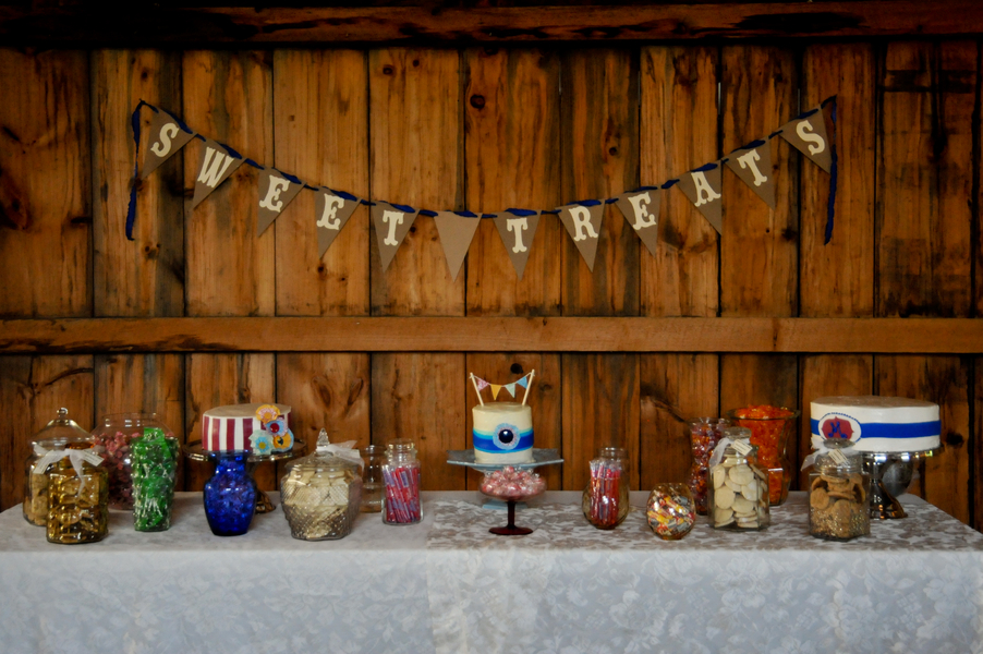 vintage carnival maryland wedding dessert table