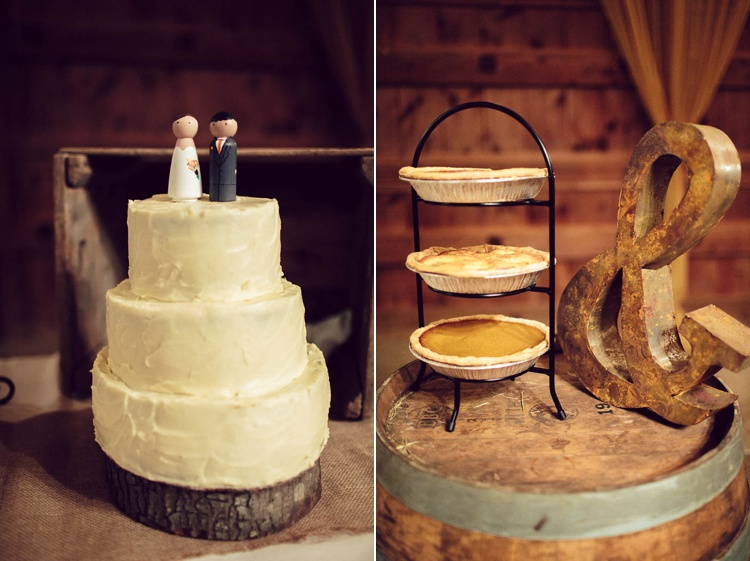 rustic personalized DIY wedding cake desserts