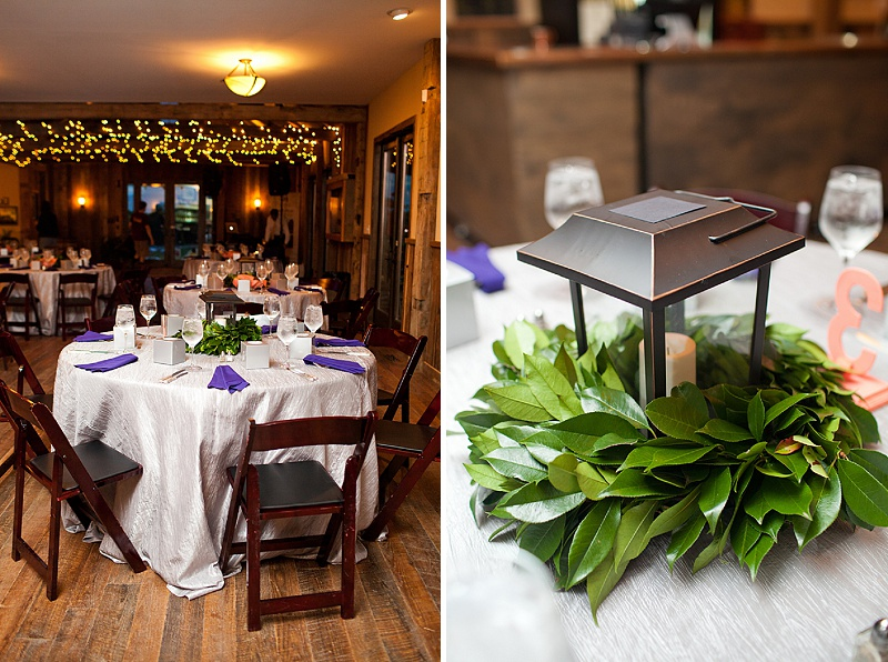 DIY Northern Virginia wedding centerpieces