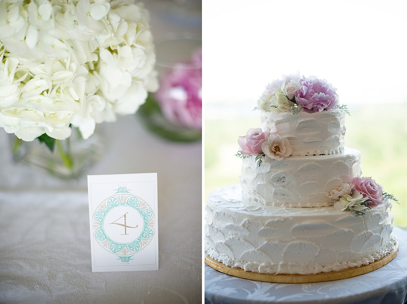 spring wedding cake florals