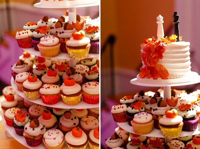 fall inspired wedding cupcakes