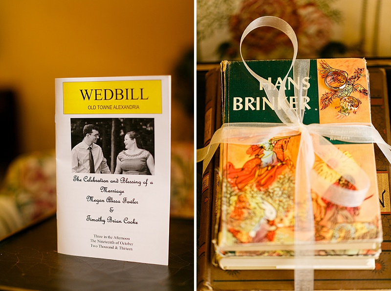 playbill wedding program
