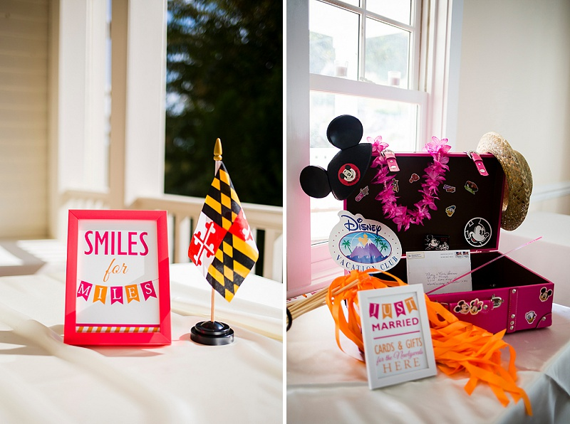 maryland themed wedding details