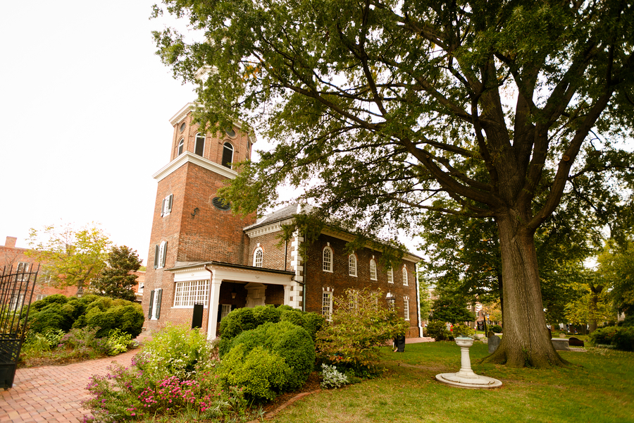 historic christ church wedding virginia