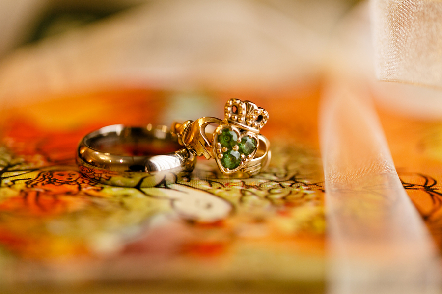 offbeat green engagement ring