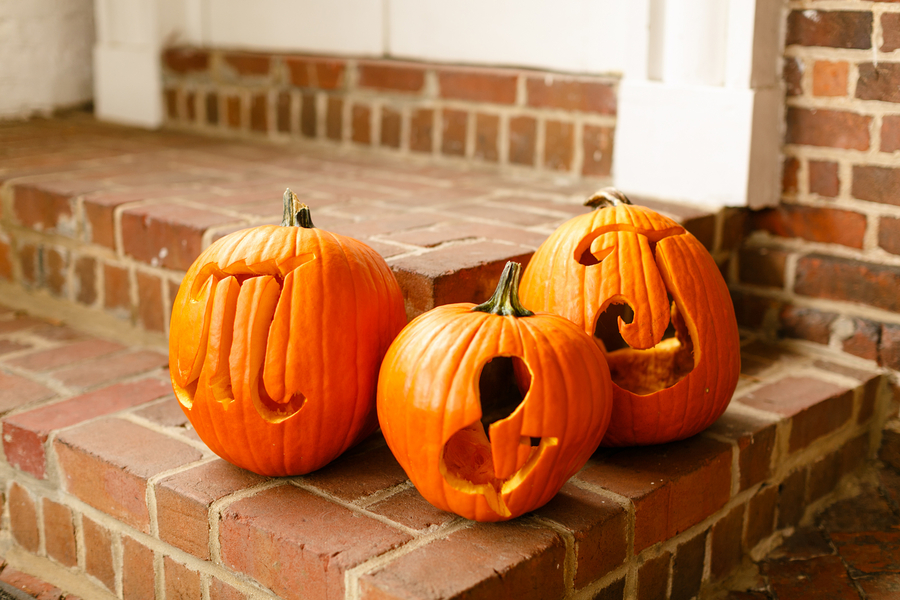 pumpkin initials wedding decor