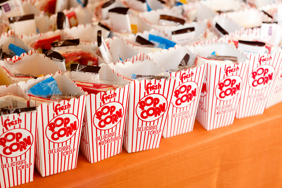 film themed wedding favors